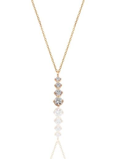 Söğütlü Silver Gümüş Rose Zirkon Taşlı Pırlanta Modeli Pembe
